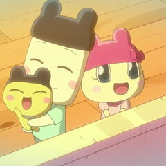Younger anime version of Mametchi's family