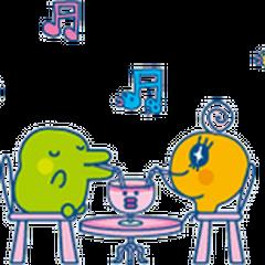 Memetchi and Kuchipatchi sharing a drink