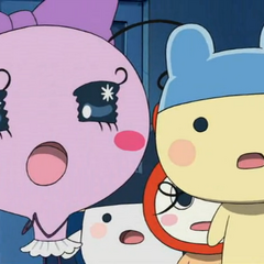 Young Mametchi and Makiko in Tamagotchi: The Movie