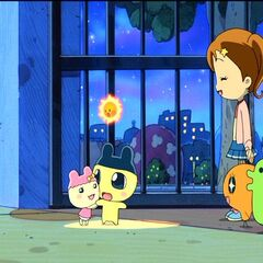 Tanpopo, happy to see Chamametchi's first form in Tamagotchi: The Movie