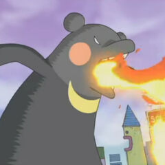 A giant fire-breathing Beartchi in one of <a href=