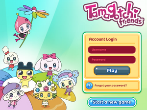 Tamagotchi Friends - Dream Town (Login Screen)