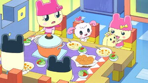 Mametchi family dinner