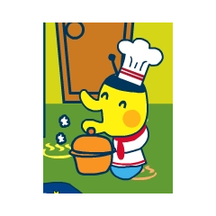 Minotchi as a cook from Tamatown V4