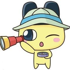 Mametchi as an explorer.