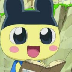 Mametchi leading the group on an expedition
