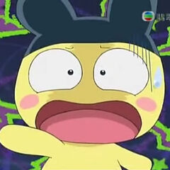Mametchi shocked