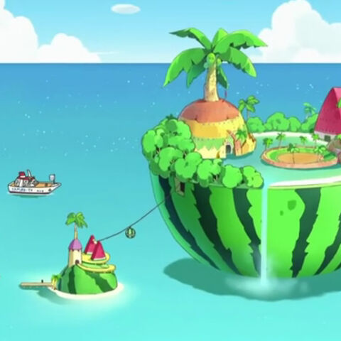Everlasting Summer Island from the anime show, Tamagotchi!.