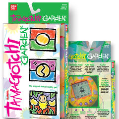 Prototype Tamagotchi Garden packaging