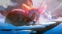 Fantasy-art-fox-mountains-women-wallpaper-preview