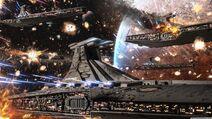 Star wars clone wars republic venator fleet-wallpaper-3840x2160