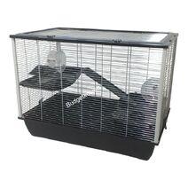 Hamsterkooirattenkooihugo zwart