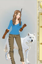 Daine and wolf