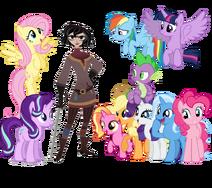 Princess Twilight Sparkle and her friends meet Cassandra