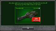 Personal Discount Thunder M3 -25