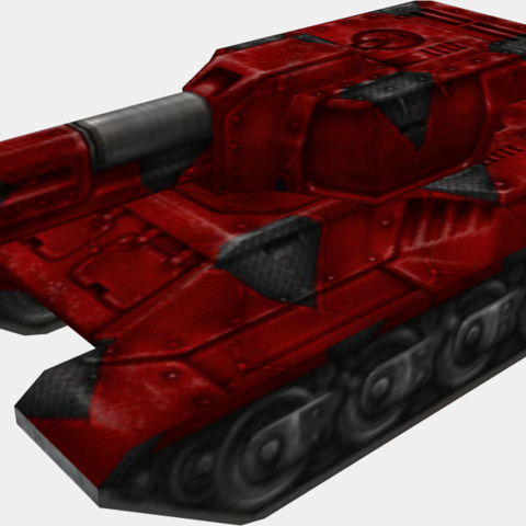 The paint on a tank