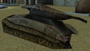 Destroyed tank Year 2042