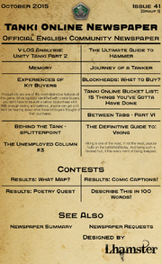 Tanki Online Newspaper issue 41 main topic