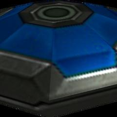 A blue mine