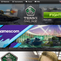 The home page, as it was in August 2014