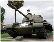 M48 Patton Tank on display