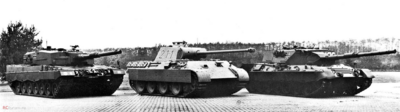 Leopard 2, Panther, and Leopard 1 real life