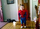 Jayden being Spiderman