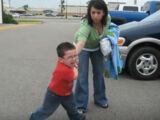 Tantrum in the parking lot