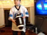 Jayden talking about a football play.