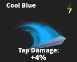 Cool blue slash effect
