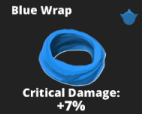 Blue Wrap Scarf