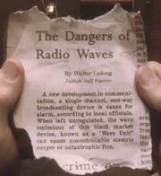 Tapjoint dangers of radio waves