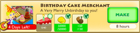 Birthday Cake Merchant Crafting