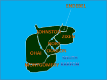 Map of South Karfon