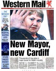 Western Mail - New Mayor New Cardiff