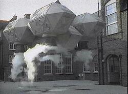 Dalek Shuttle in school yard
