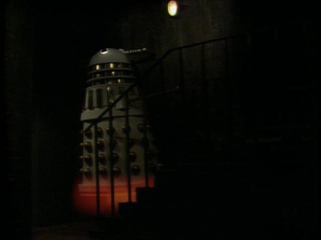 Dalek climbs stairs