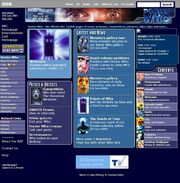 Doctor Who Website Home Page on 12 June 2004