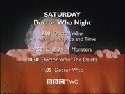 Doctor Who Night 1999 trailer schedule