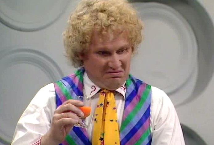 Risultati immagini per sixth doctor carrot juice