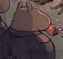 Hippopotamus guards