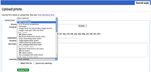 Licensing screenshot upload 1