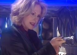 The Thirteenth Doctor with her sonic screwdriver (The Curse of Fatal Death)