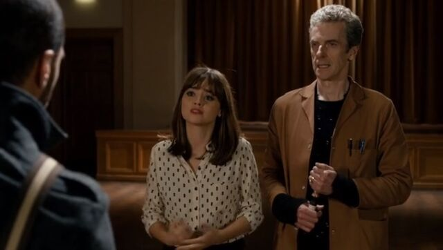 File:Clara comes clean to Danny about the Doctor.jpg
