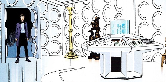 The TARDIS Wall Was Originally Covered In Roundels. (COMIC: Hunters Of The  Burning Stone)