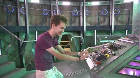 Alex Day on the TARDIS set - Teenage Rebel behind the scenes - Doctor Who