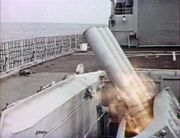 Navy ship weapons firing - Sea Devils