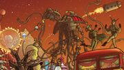 Martians from the cover of Iris Wildthyme of Mars