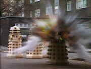 Imperial Daleks explode retreat