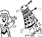 Dalek climbing up stairs